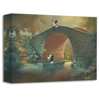 Image of Mickey Mouse and Minnie ''Hooked on You'' Giclée by Rob Kaz # 1