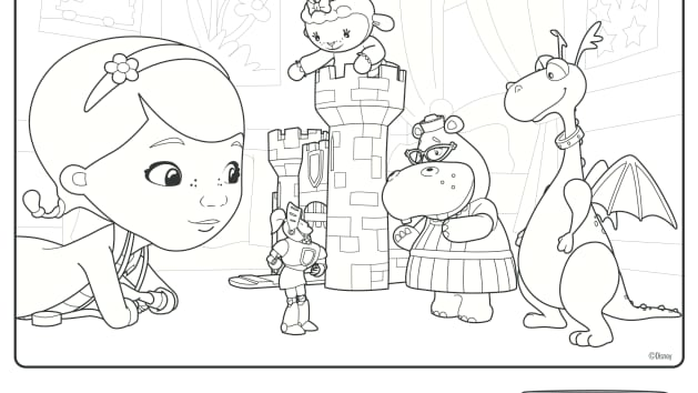 Disney Jr Coloring Pages Doc Mcstuffins Coloring Pages