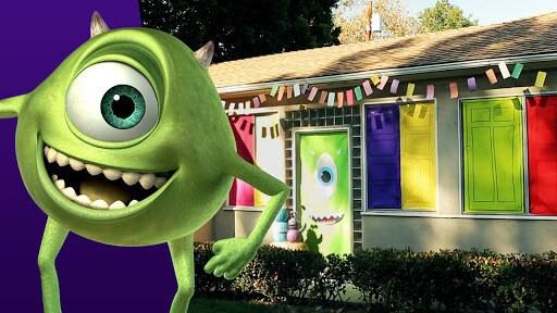 Mike Wazowski Halloween Door Decor   Disney Family