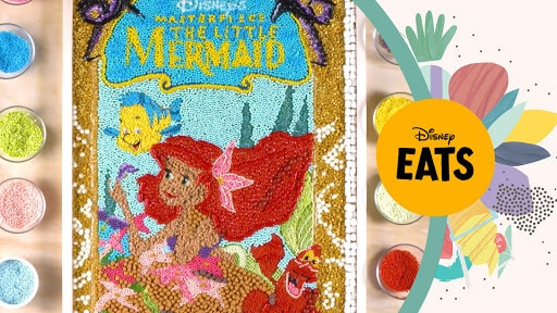 The Little Mermaid VHS Cover Made of Food | Disney Eats