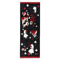 Alice in Wonderland Painting the Roses Red Fringe Scarf by Vera Bradley