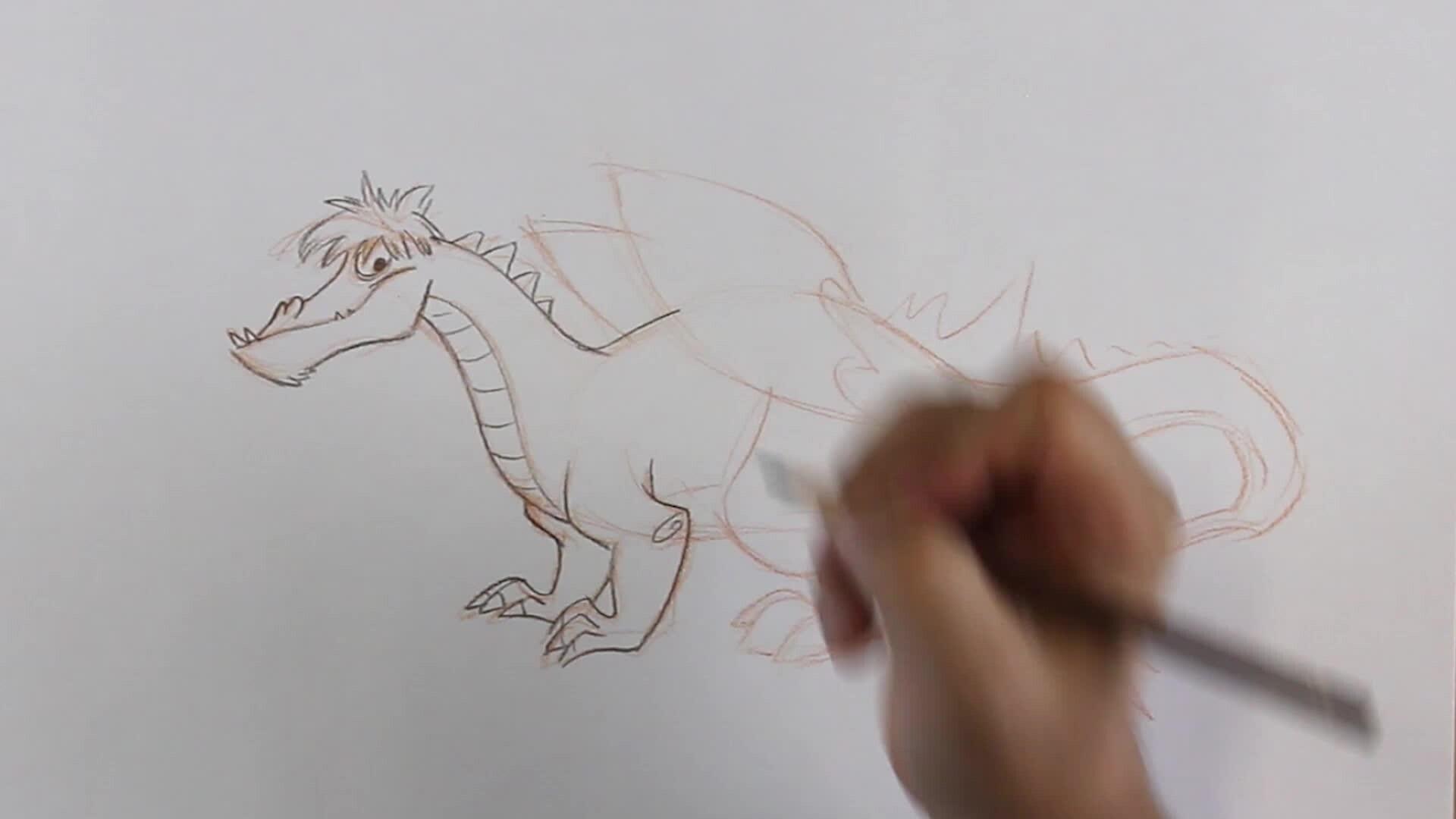 Comment dessiner un gentil dragon (plus rapide)