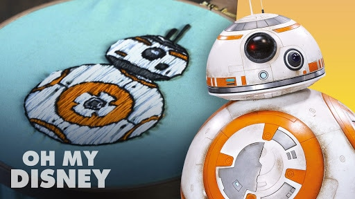 Oh My Disney Sketchbook: Embroidery - BB-8