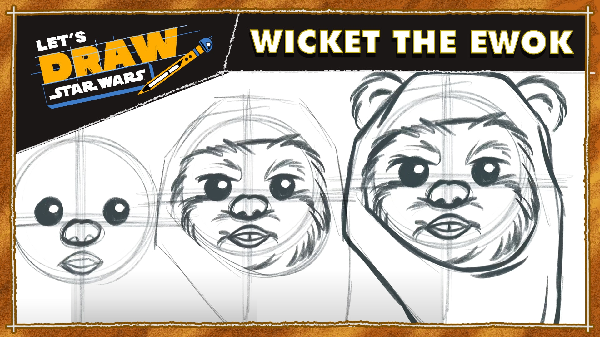 Let's Draw! Wicket the Ewok