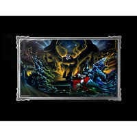 Image of Sorcerer Mickey Mouse ''Great Flood'' Deluxe Print by Noah # 1