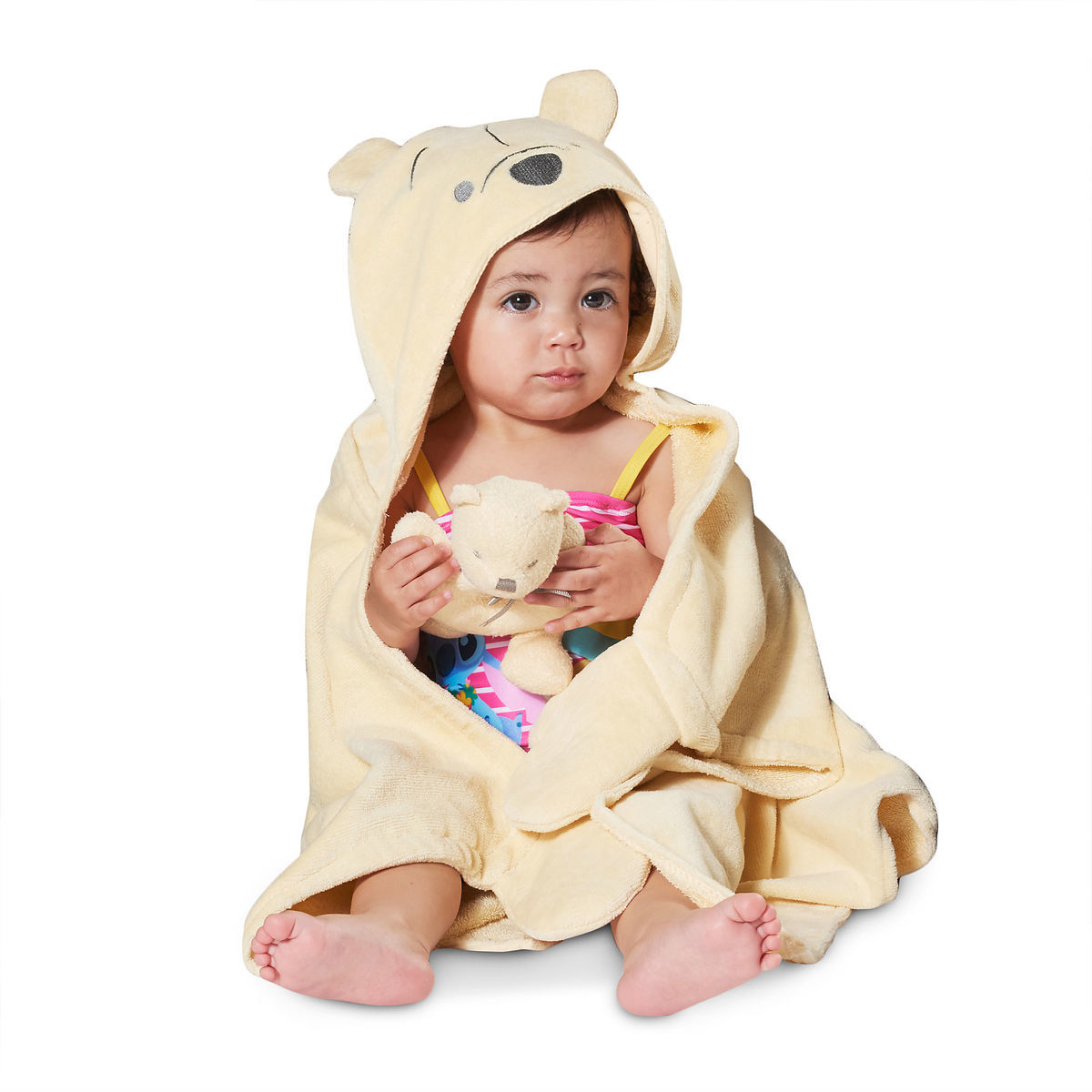Product Image of Winnie the Pooh Hooded Towel for Baby - Personalizable # 2