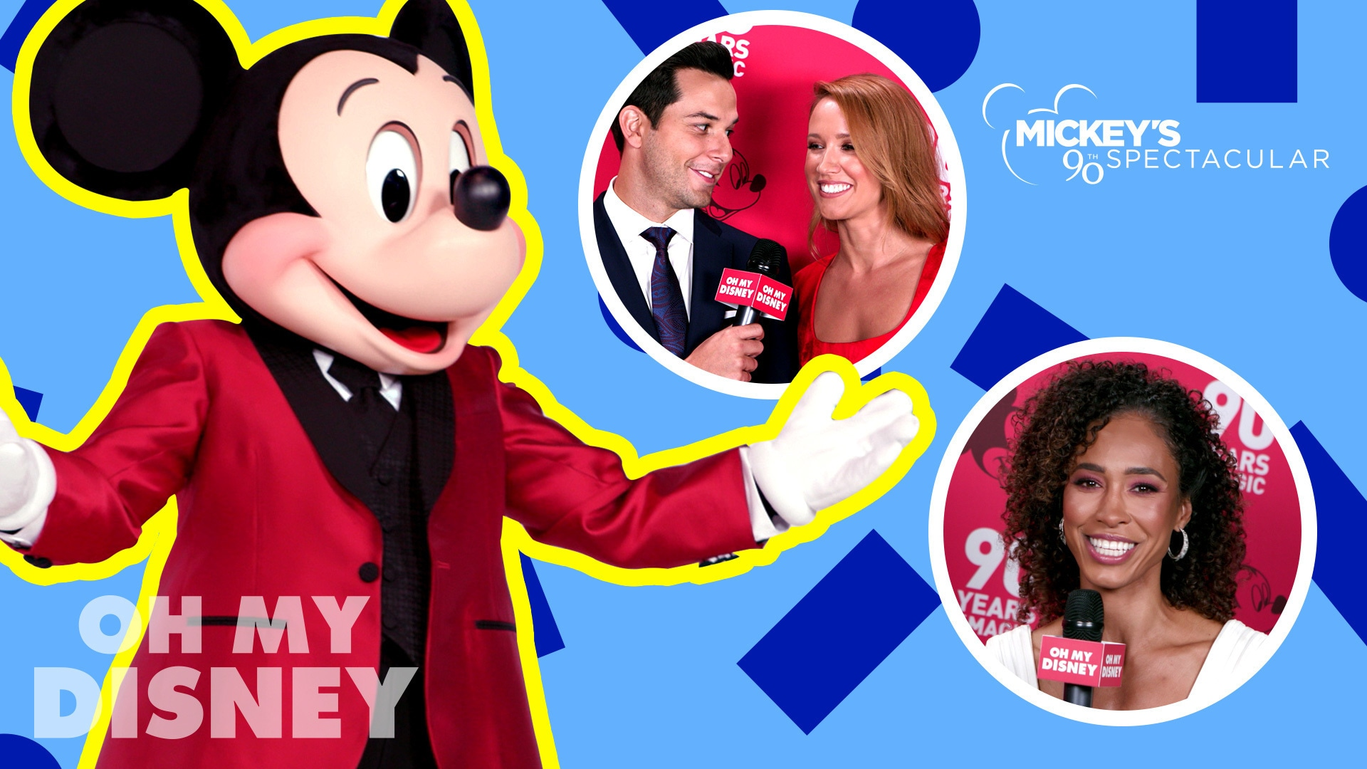 Red Carpet Interviews From Mickey's 90th Spectacular on ABC | Oh My Disney