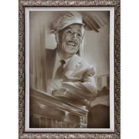 Image of ''Walt in Train'' Giclée by Noah # 2