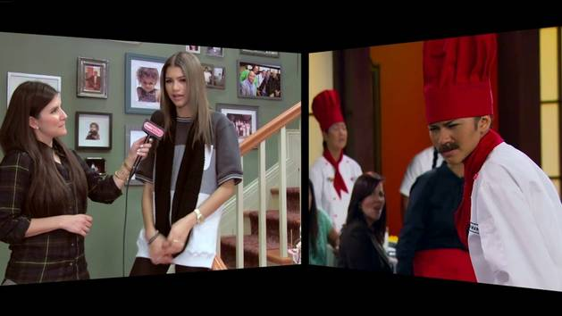 On The Set Of KC Undercover With Zendaya