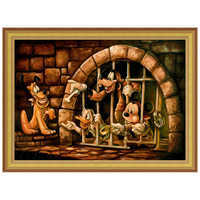 Image of Mickey Mouse Pirates of the Caribbean ''Here Poochie'' Giclée by Darren Wilson # 7