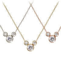 Mickey Mouse Diamond Icon Necklace - 18K - Large