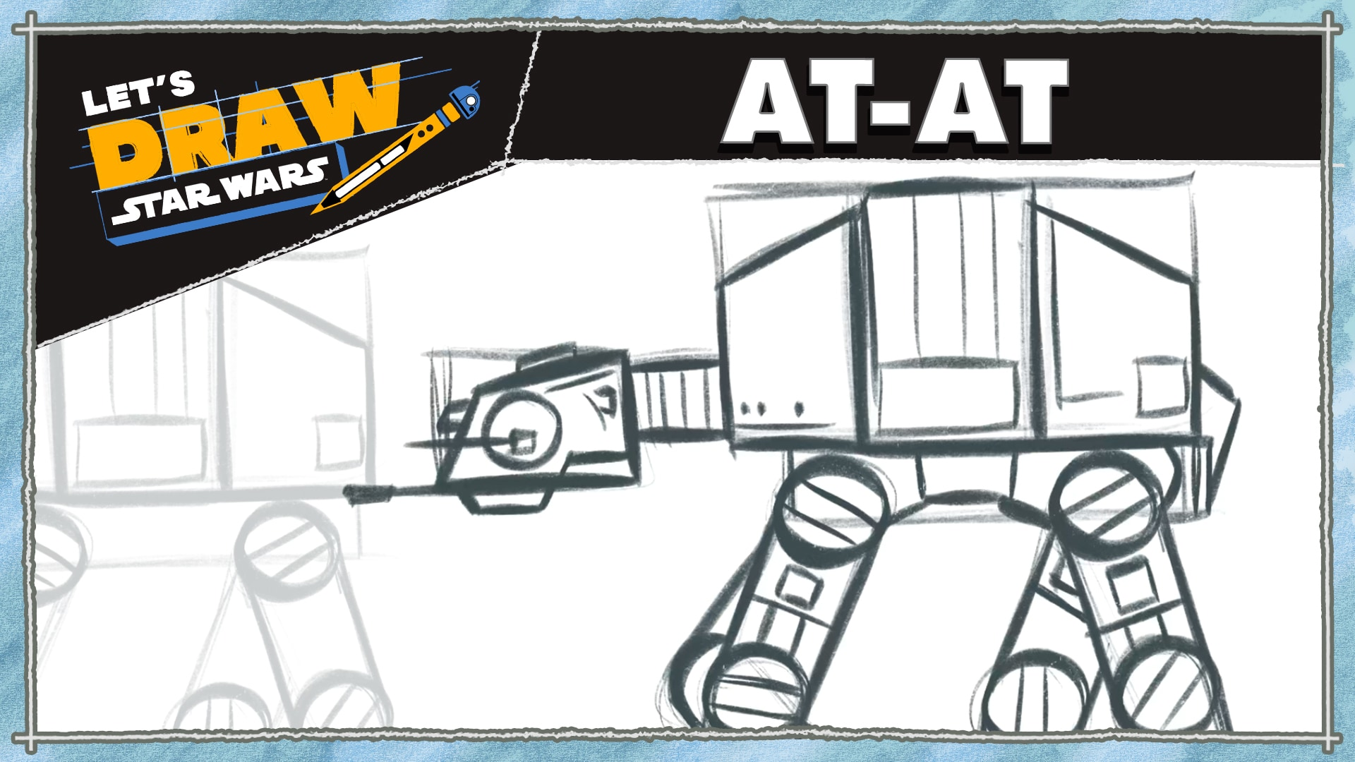 How to Draw an AT-AT | Let's Draw Star Wars