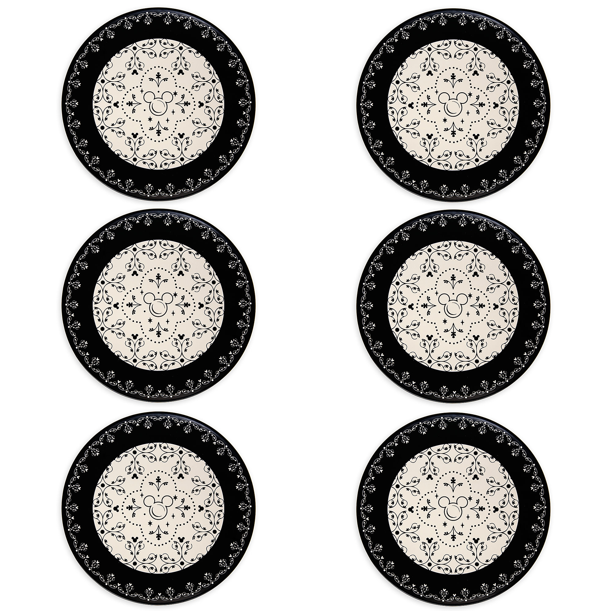 Thumbnail Image of Mickey Mouse Icon Dinner Plate Set - Disney Dining Collection - Black /  sc 1 st  shopDisney & Mickey Mouse Icon Dinner Plate Set - Disney Dining Collection - Black / White