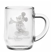 Mickey Mouse Glass Mug by Arribas - Personalizable