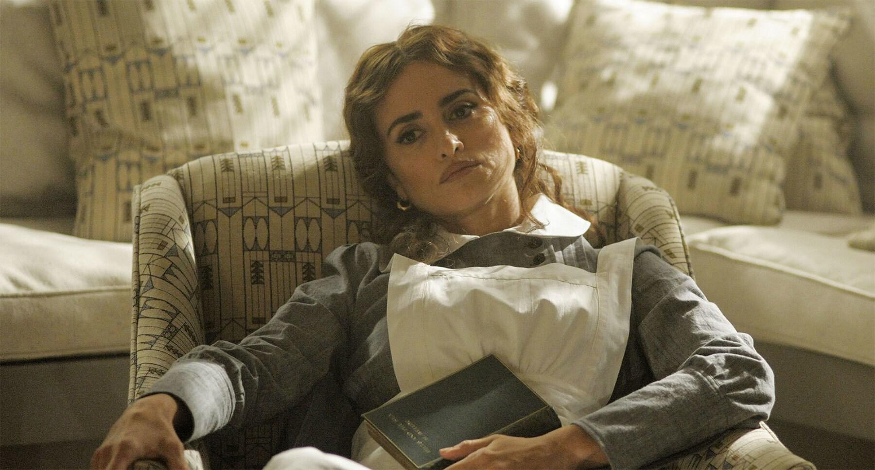 "Penélope Cruz (as Pilar Estravados) sitting on a chair in ""Murder on the Orient Express"""