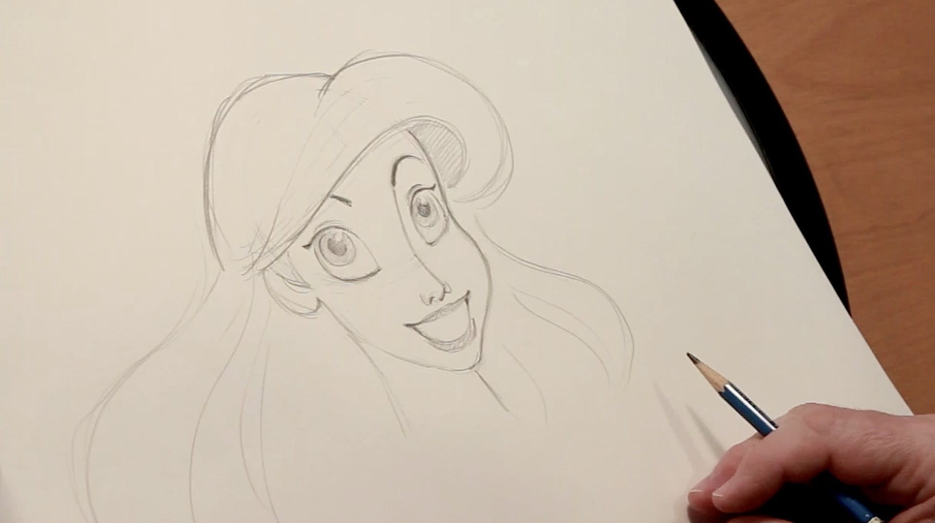 How To Draw Ariel from The Little Mermaid l Draw with Disney Animation