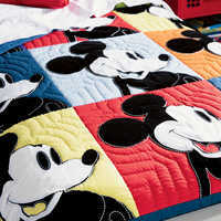 Image of Mickey Mouse Color Block Mickey Quilt by Ethan Allen # 5