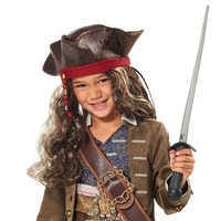 Image of Jack Sparrow Pirate Hat and Wig for Kids # 1