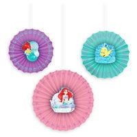 Ariel Paper Fan Decorations