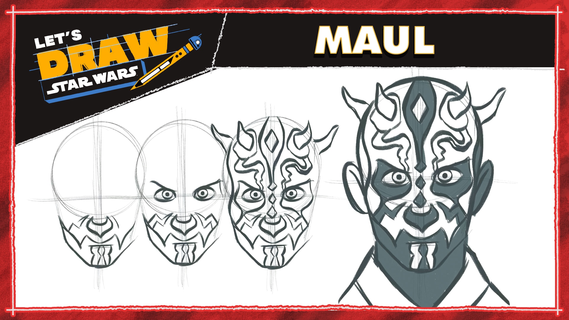 How to Draw Maul | Let's Draw Star Wars