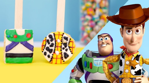 Woody and Buzz Rice Crispy Pops | Disney Dishes