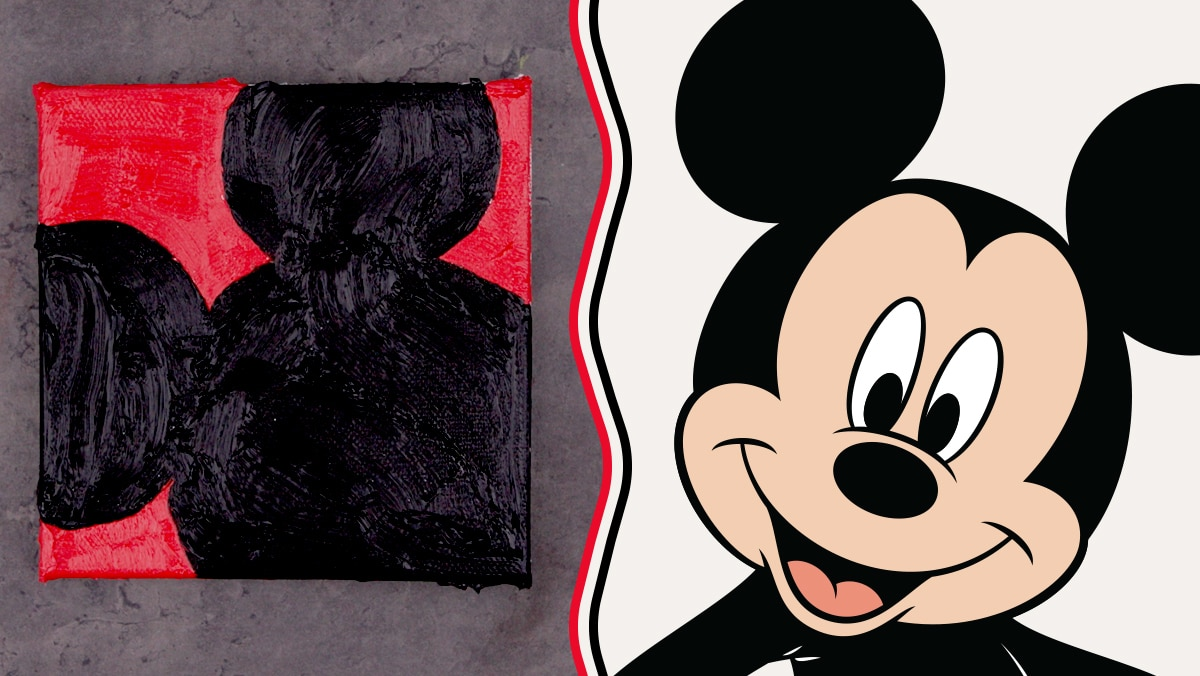 Oil Paint Art Inspired by Mickey Mouse | Disney Family