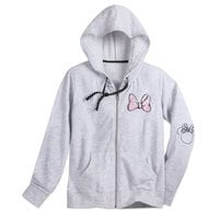 Image of Minnie Mouse Bow Zip Hoodie for Women # 1