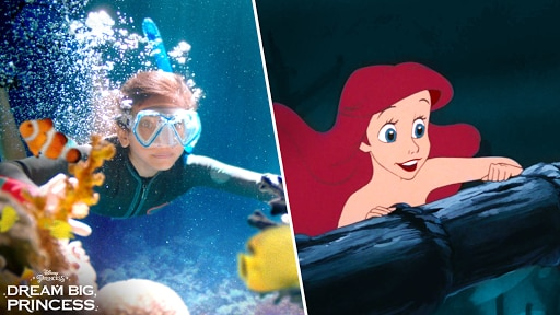 Dream Big, Princess – Side-by-Side Ariel | Disney Channel