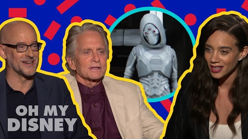 Michael Douglas, Hannah John-Kamen, and Peyton Reed on Filming Ant-Man and The Wasp | Oh My Disney