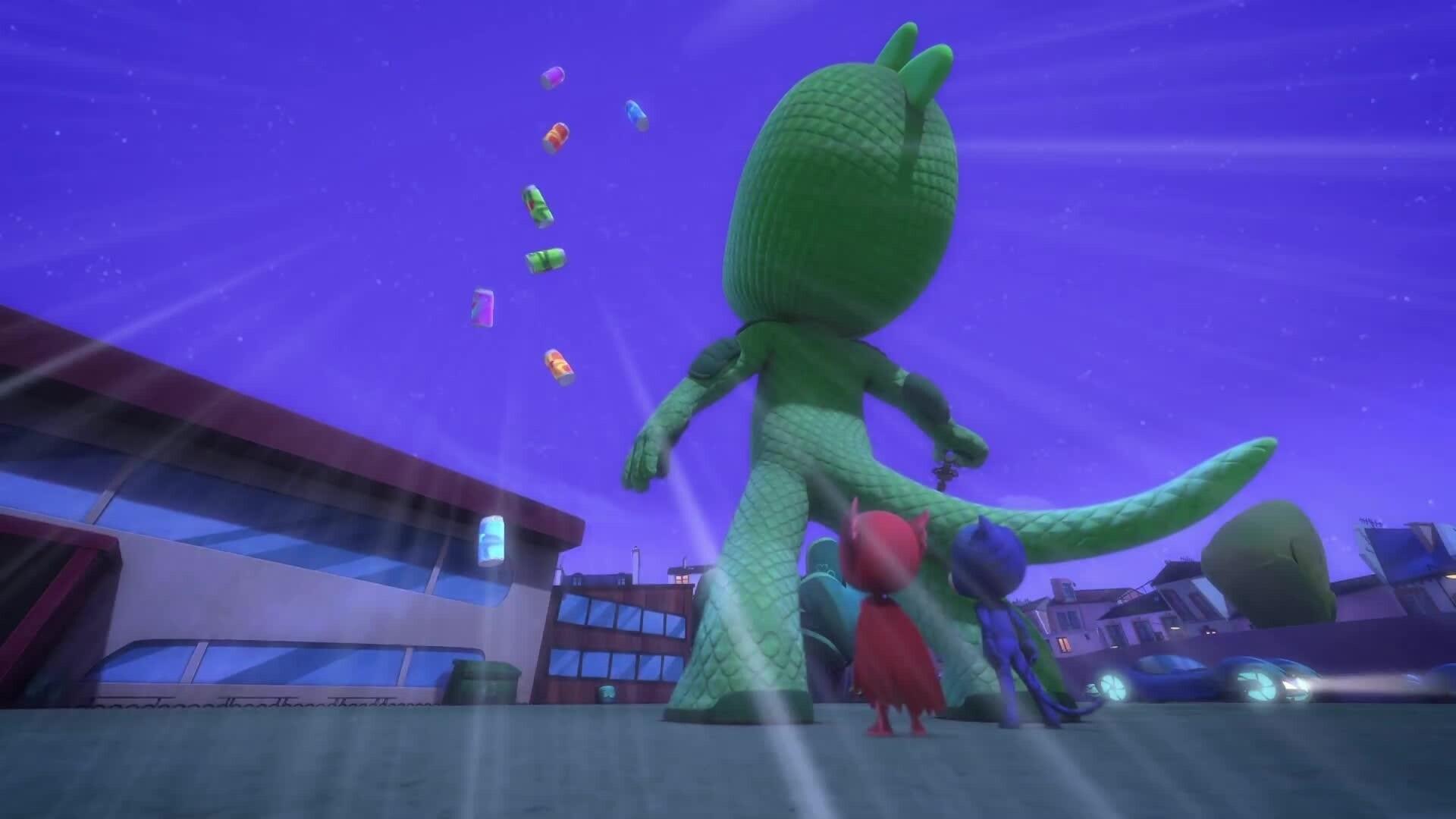 PJ Masks - Pyjamahelden - Riesen-Gecko/Eulette, die Meisterpilotin