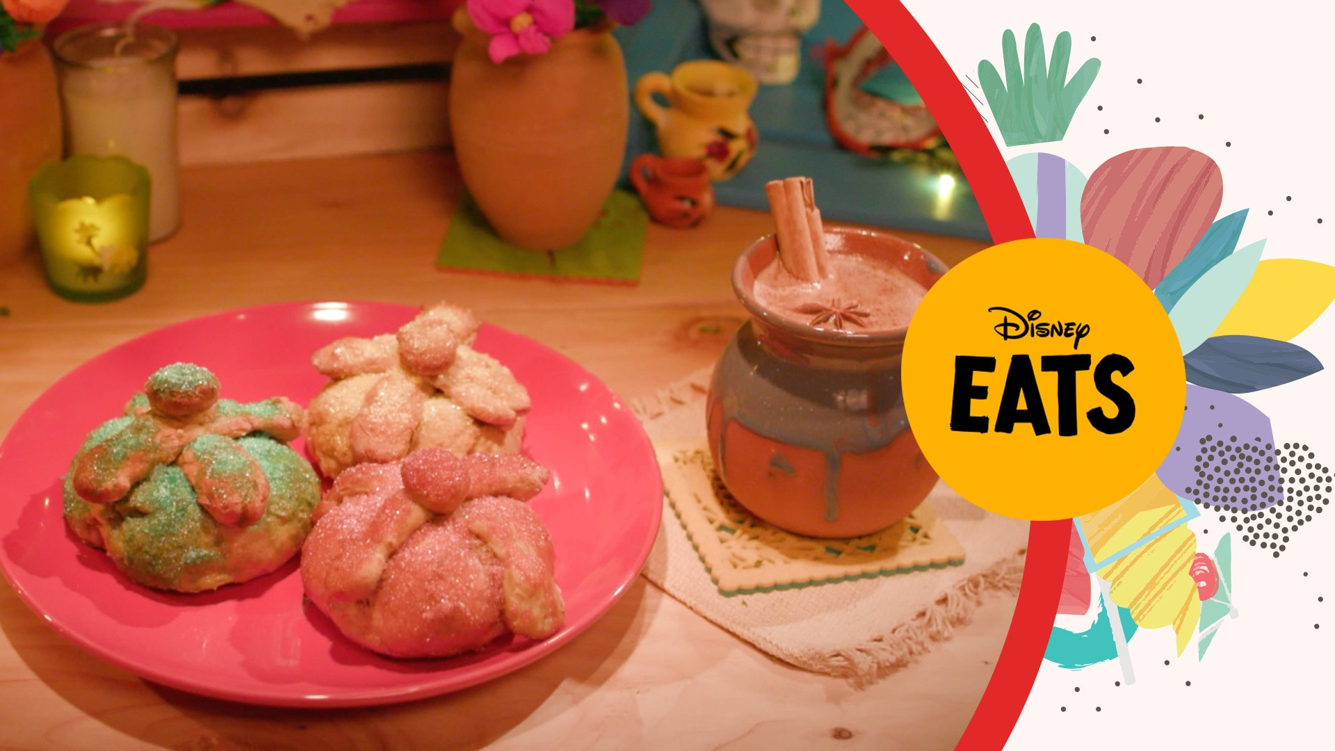 Coco Inspired Pan de Muerto & Hot Chocolate | Disney Eats