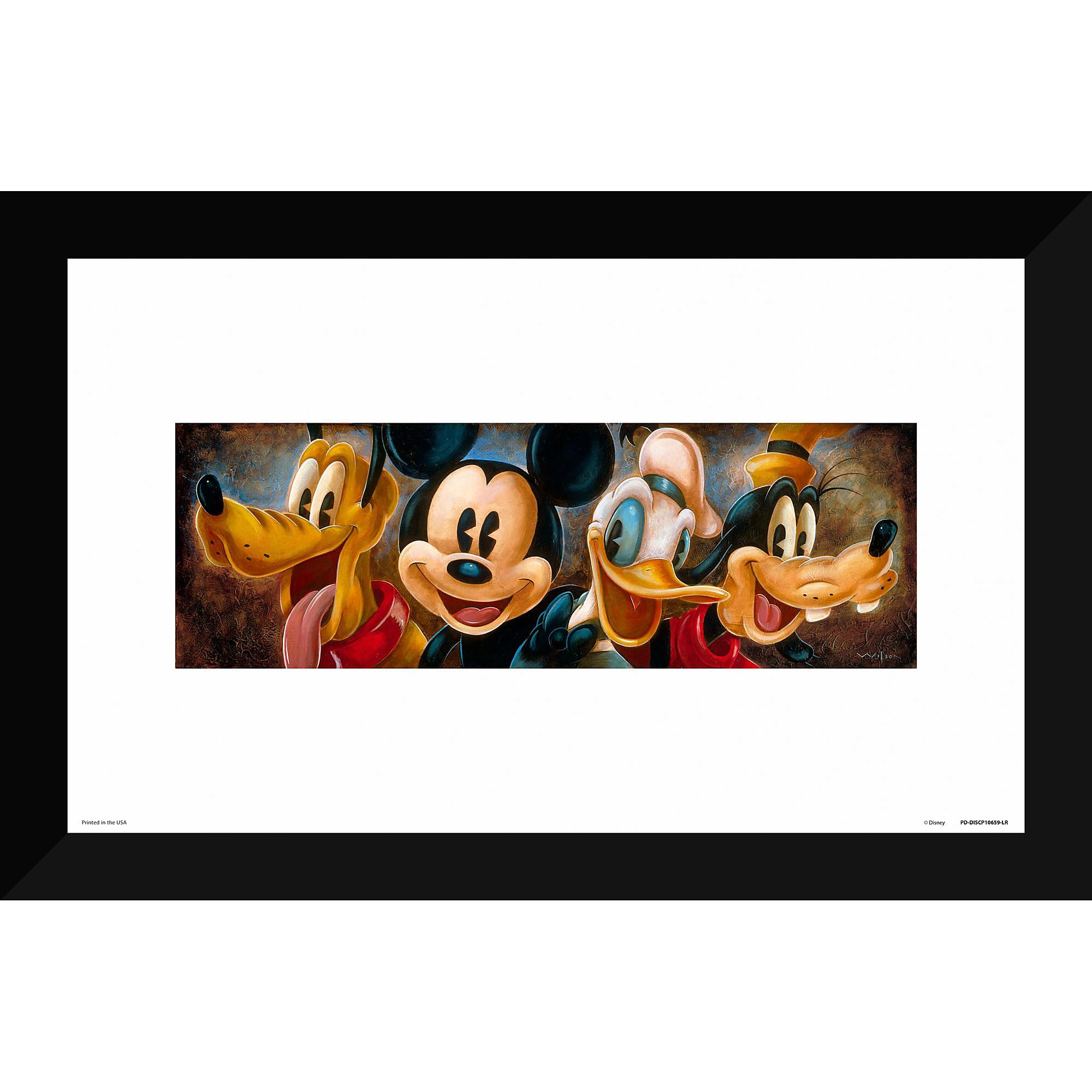 Mickey Mouse and Friends \'\'Four Characters\'\' Giclée by Darren Wilson ...