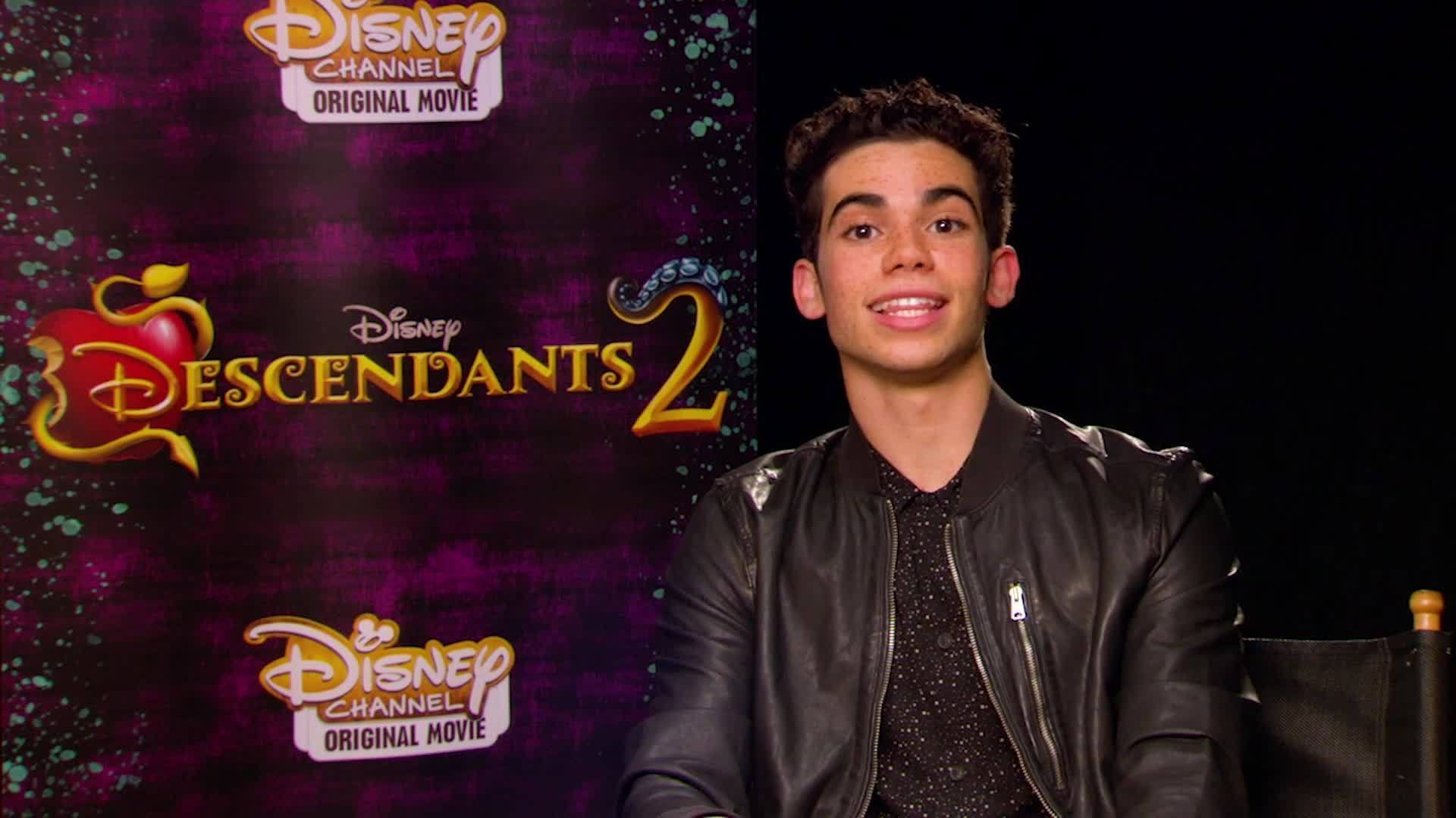 Cameron Boyce and Booboo Stewart Play the Descendants Name Game | Oh My Disney