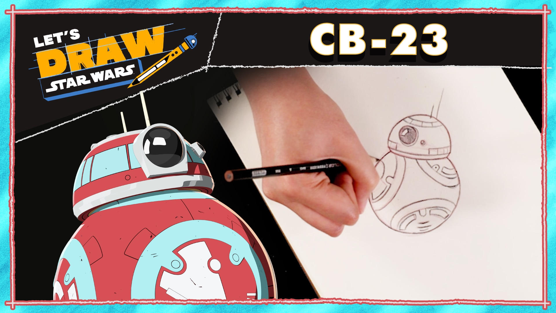 How to Draw CB-23 (and BB-8) from Star Wars Resistance! | Let's Draw Star Wars