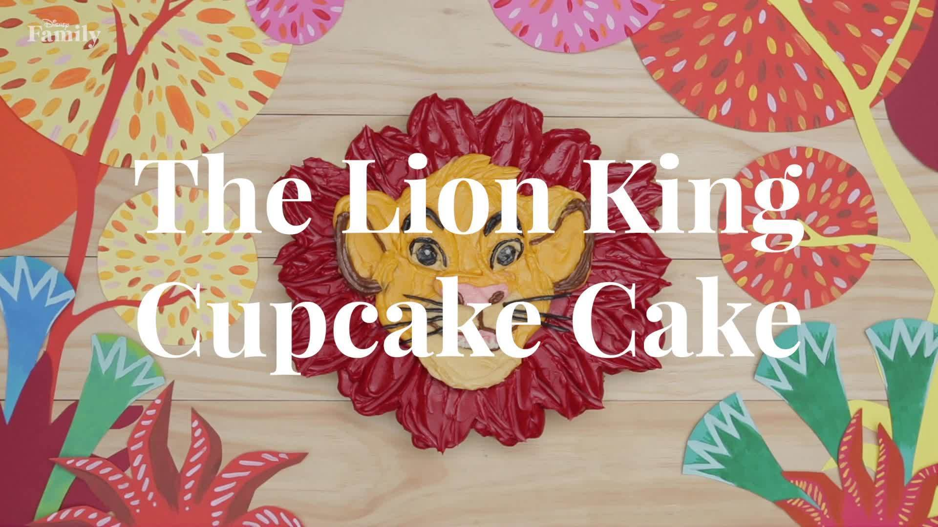 The Lion King Cupcake Cake   Dishes by Disney   Disney Family