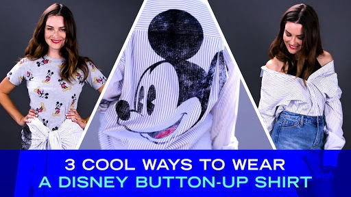 3 Cool Ways to Tie a Disney Button-Up Shirt | Disney Style
