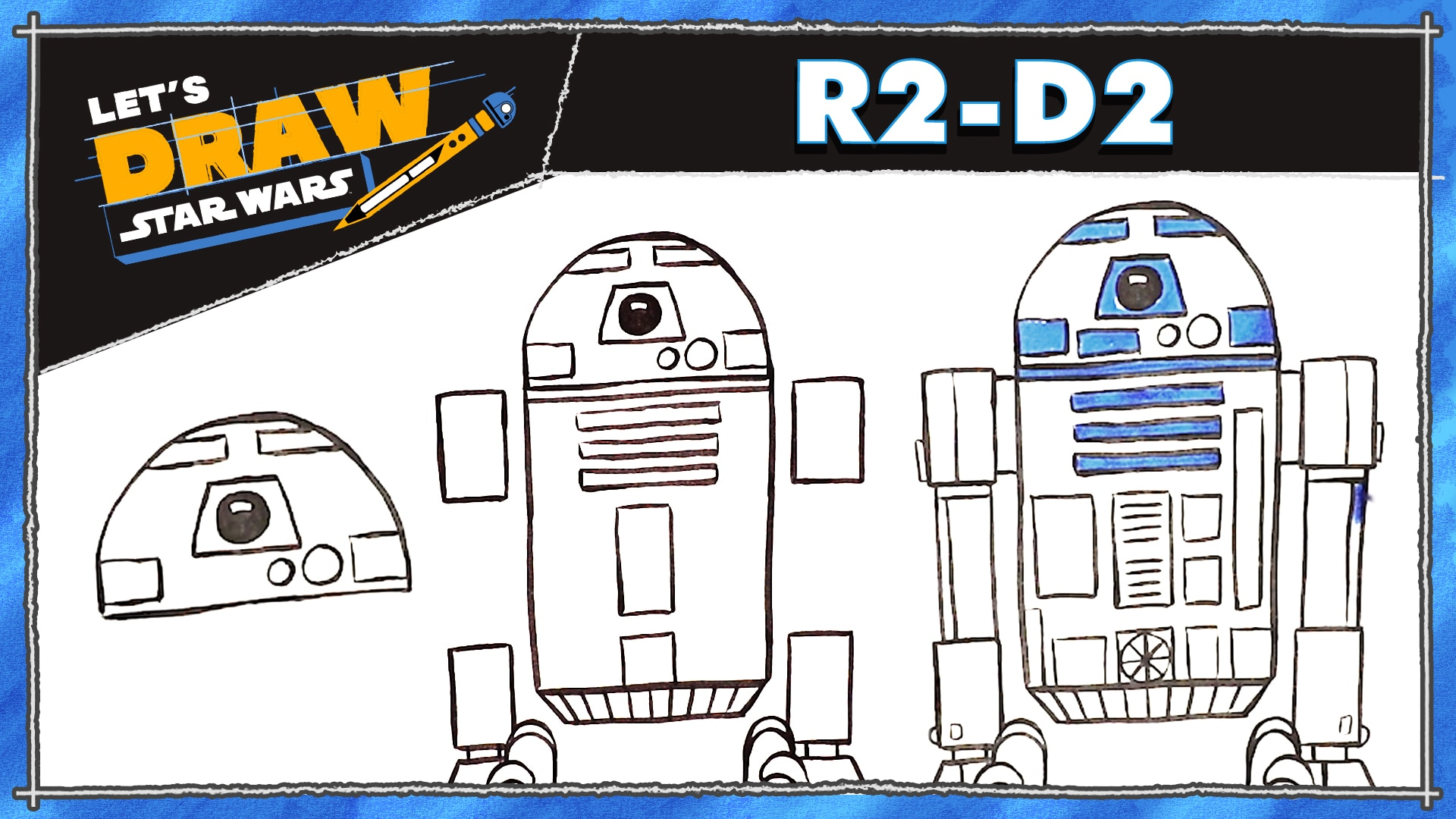 How to Draw R2-D2 | Let's Draw Star Wars