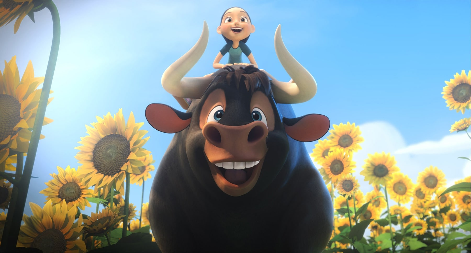 "Actors John Cena (as Ferdinand) and Lily Day in the movie ""Ferdinand"""