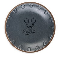 Mickey Mouse Icon Dinner Plate Set - Disney Dining Collection - Gray / Tan