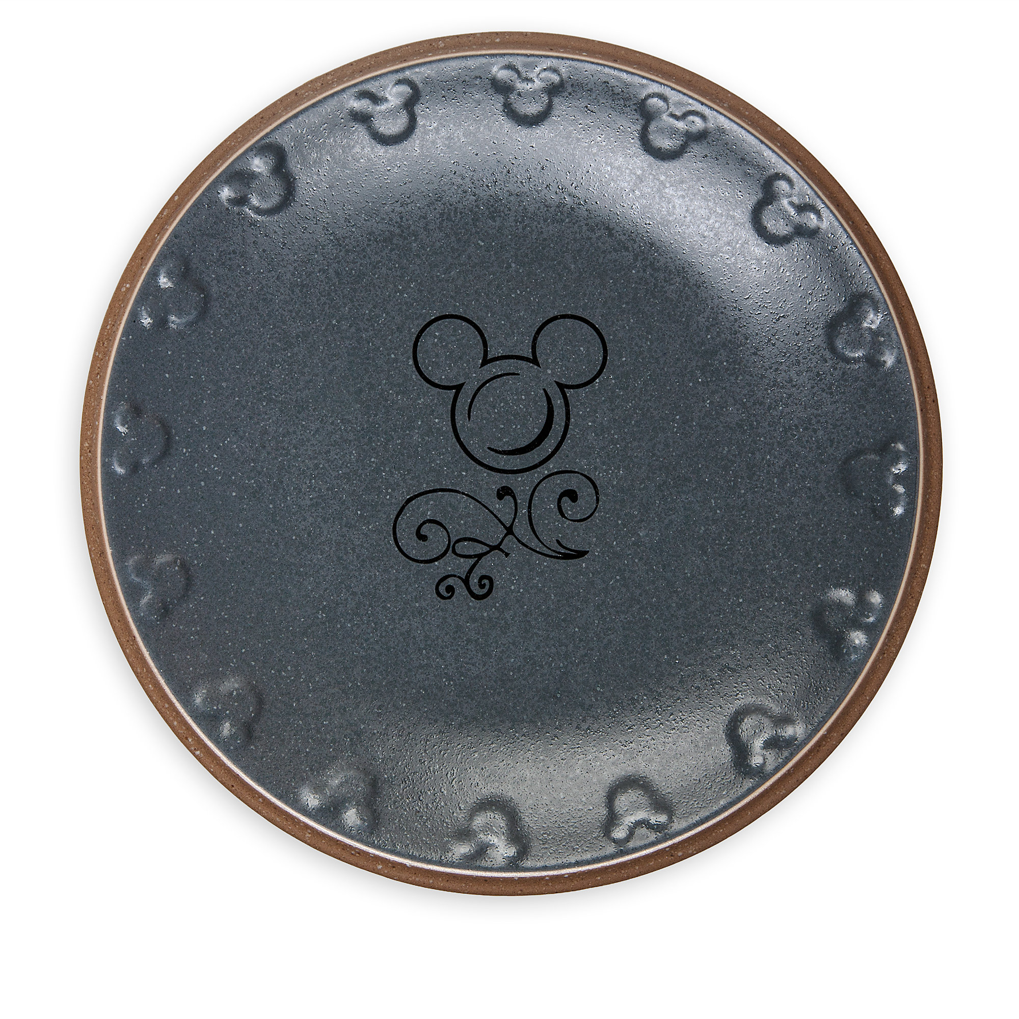 Mickey Mouse Icon Dinner Plate Set   Disney Dining Collection   Gray / Tan
