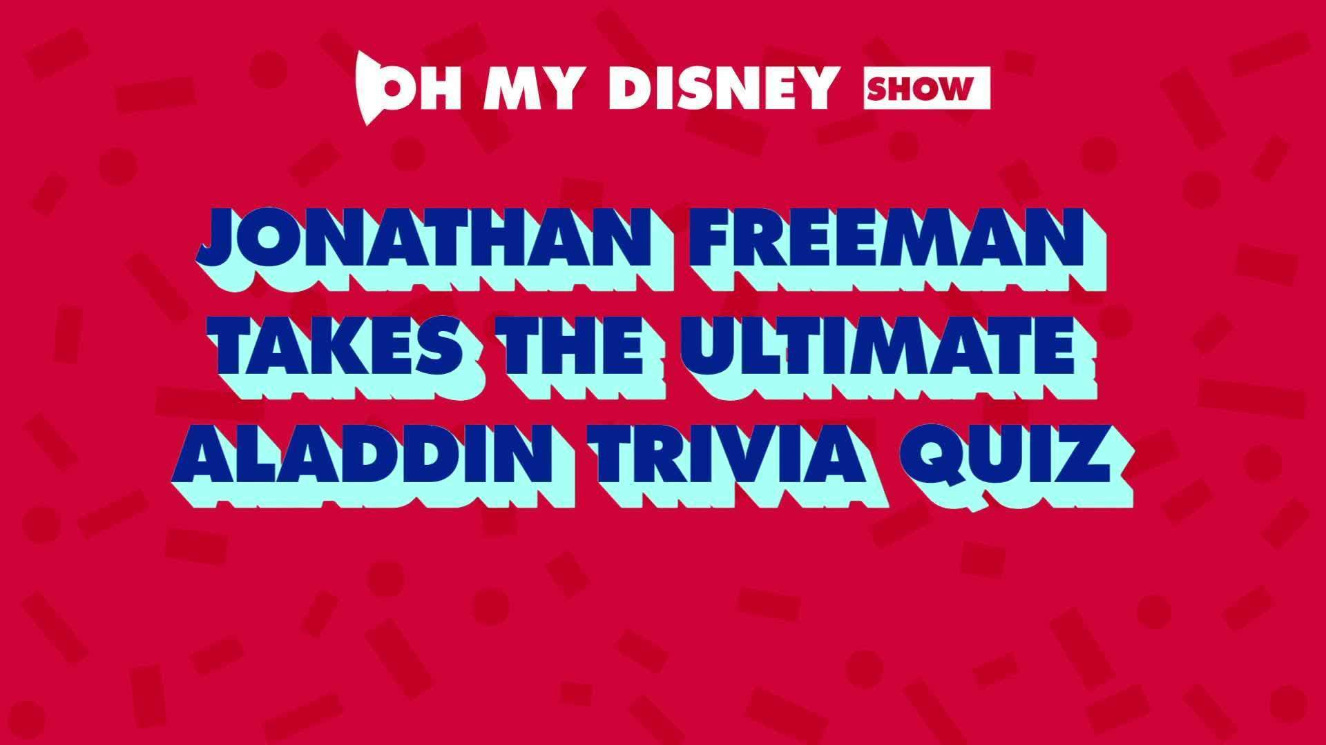 Jonathan Freeman Takes an Oh My Disney Quiz | Oh My Disney Show