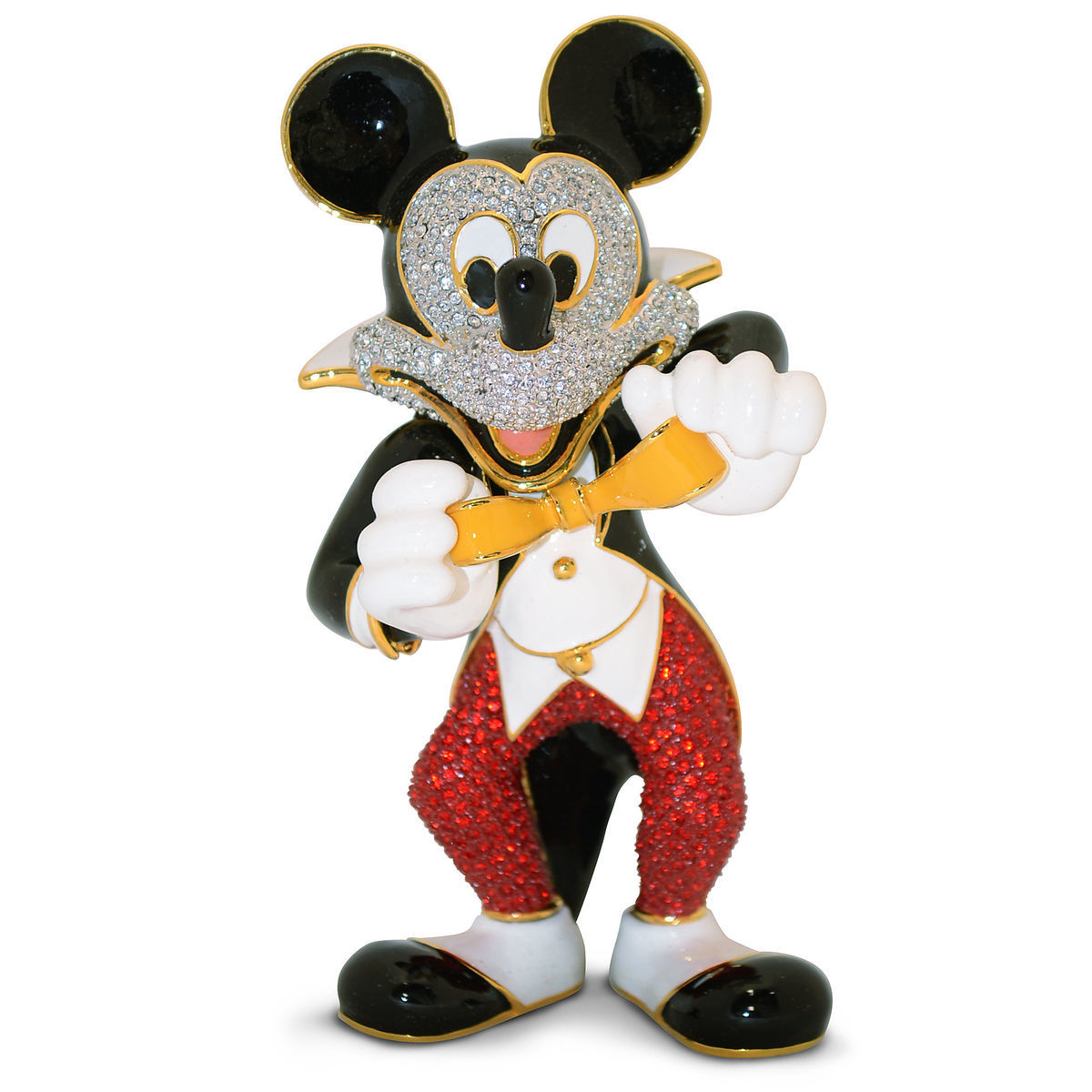 Tuxedo Mickey Mouse Jeweled Figurine by Arribas   shopDisney