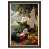 Image of Mickey Mouse and Pluto ''Sundown Surfer Mickey Mouse'' Giclée by Darren Wilson # 7