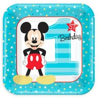Mickey Mouse 1st Birthday Dessert Plates