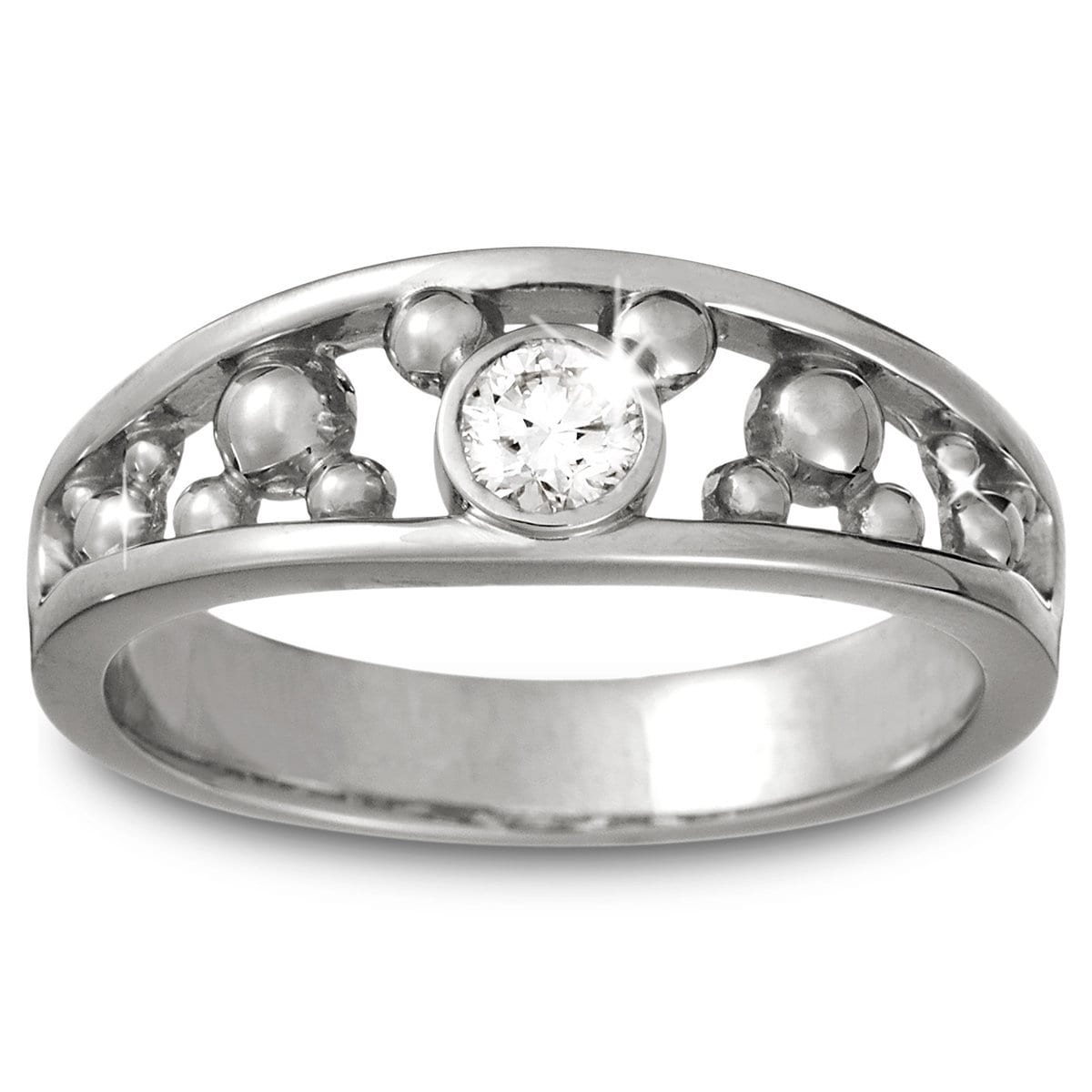 Mickey Mouse Diamond Ring for Men - Platinum | shopDisney