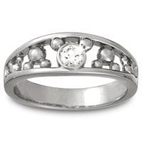 Image of Mickey Mouse Diamond Ring for Men - Platinum # 1