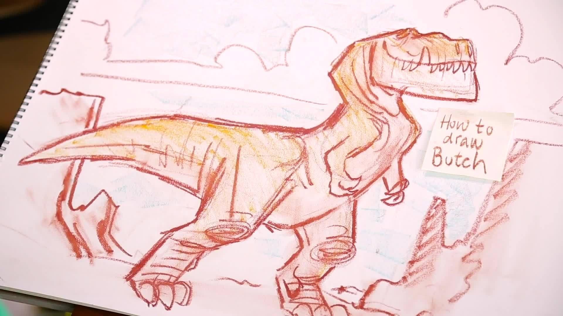 How to Draw Butch from Good Dinosaur   Disney Insider