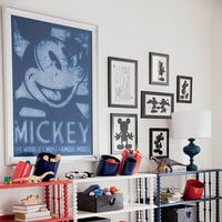 Mickey Mouse ''Famous Mouse'' Framed Giclée on Paper by Ethan Allen