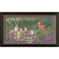 Bambi ''Saying Hello to Thumper'' Giclée on Canvas by Michelle St.Laurent - Limited Edition