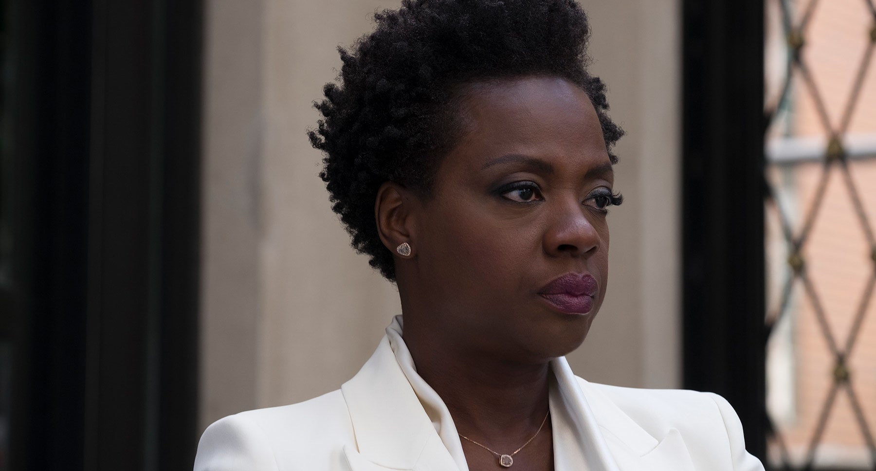 "Actress Viola Davis as Veronica in the movie ""Widows"""
